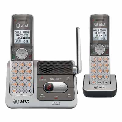 ATT CL82201: Silver/Grey Cordless Phone 2 Handsets from Am-Dig