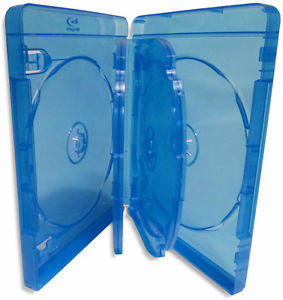Blu-Ray Case - Light Blue 6 Disc Holder 22mm from Am-Dig