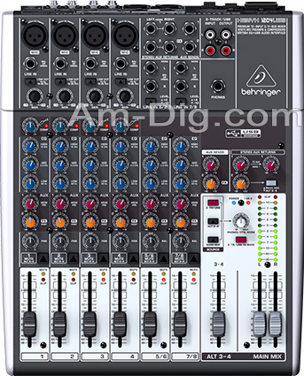 Behringer XENYX 1204USB Small Format Stereo Mixer from Am-Dig