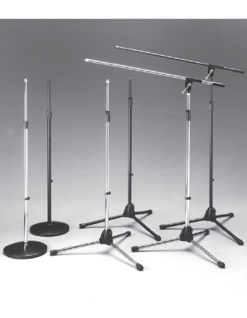 Calrad 10-31BK: Blk Finish Microphone Stand from Am-Dig
