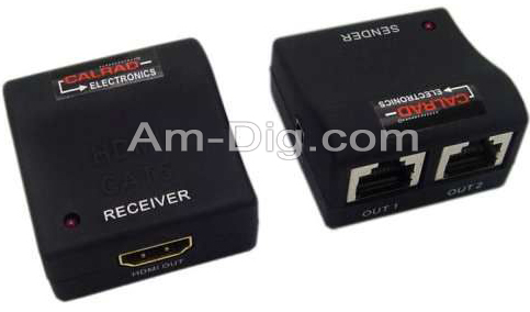 Calrad 40-1072M: HDMI Balun 3D Cat-5E,Cat-6(2) 108 from Am-Dig