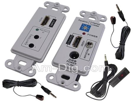 Calrad 40-1076: HDMI Wallplate (2 Cat-5E , Cat-6)  from Am-Dig