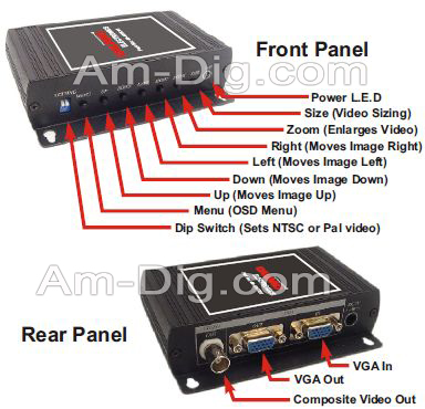 Calrad 40-40VC01: VGA to Composite Video from Am-Dig