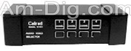 Calrad 40-641: Stereo Audio/Video Selector Switch from Am-Dig