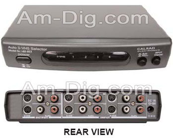 For details about the Calrad 40-803 SVHS Auto Switcher (pictured here), scroll down just a little bit.