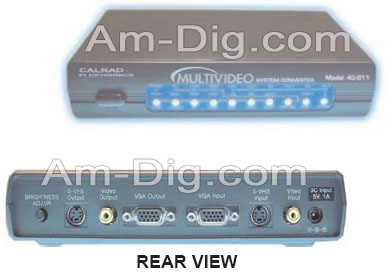 Calrad 40-811: Multivideo System Converter Pc to T from Am-Dig