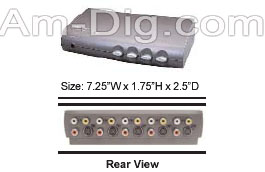 Calrad 40-813: 4 Input SVHS, Composite Video Switc from Am-Dig