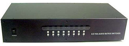 Calrad 40-8180: VGA 8 x 8 Matrix Switcher from Am-Dig