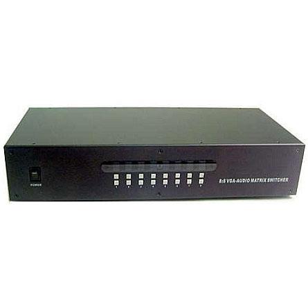 Calrad 40-8188: VGA 8 x 8 Matrix Switcher w/ Audio from Am-Dig