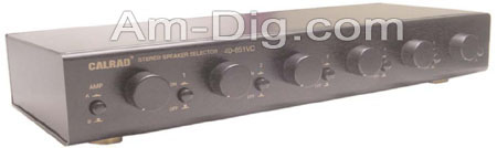 Calrad 40-851VC: 6 Channel Speaker Selector w/ Vol from Am-Dig