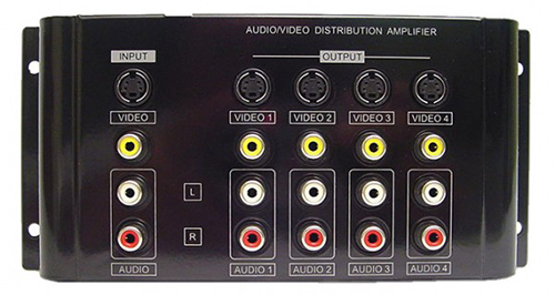 Calrad 40-936B: 1x4 Composite A/V Distribution Amp from Am-Dig