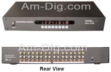 Calrad 40-948M: 8x8 Composite Video Matrix Switch from Am-Dig