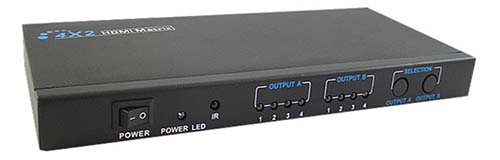 Calrad 40-967M: 4 x 2 1080P HDMI Matrix Switch from Am-Dig