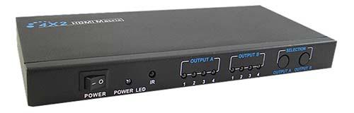 Calrad 40-967M: 4 x 2 1080P HDMI Matrix Switch from Am-Dig