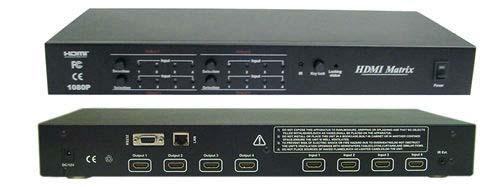 Calrad 40-968M: 4 x 4 HDMI Matrix Switcher 1080P from Am-Dig