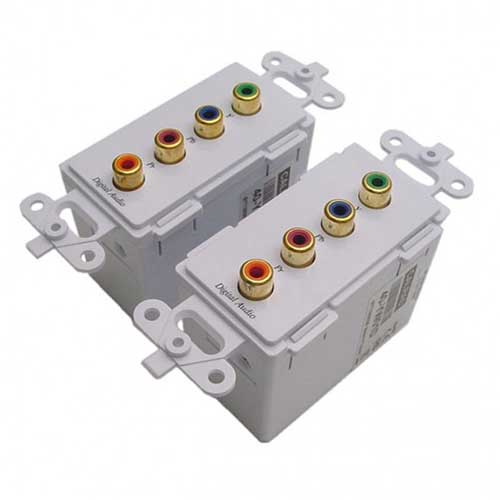 Calrad 40-YW01: Component Video Balun Wallplate(2) from Am-Dig