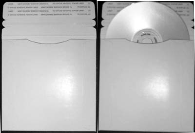 CD/DVD Cardboard Mailer - 5.00 x 5.00 Size from Am-Dig