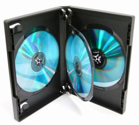 DVD Case - Black Triple DVD Holder from Am-Dig