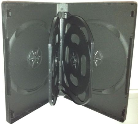 DVD Case - Black Five Disc Holder 22mm - Flip Tray from Am-Dig