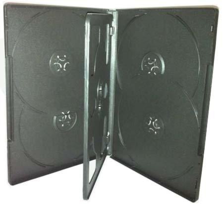 DVD Case - Black 6 Disc Holder 14mm Overlap Style from Am-Dig