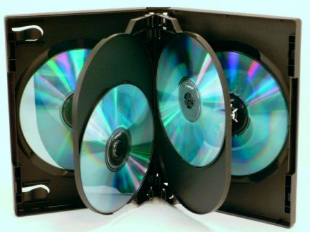 DVD Case - Black Six DVD Holder from Am-Dig