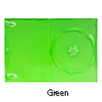 DVD Case - Single Disc Holder Solid Green 14mm from Am-Dig