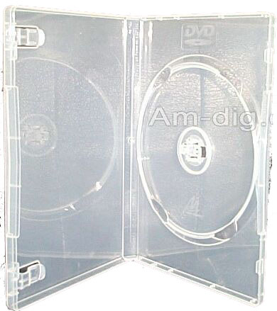 DVD Case - Clear Single 14mm with Push Hub from Am-Dig