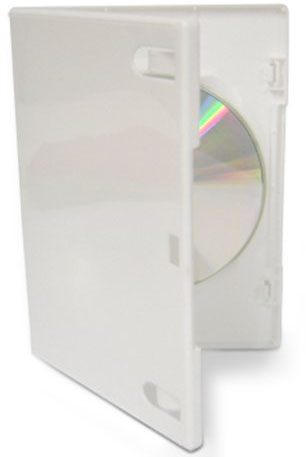 DVD Case - White Single 14mm with Push Hub from Am-Dig