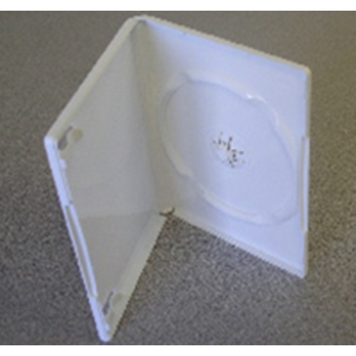 DVD Case - Glossy White Single 14mm Spine from Am-Dig