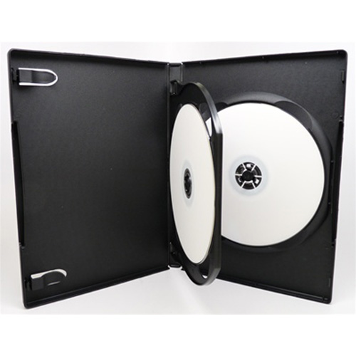 DVD Case - Black Double 14mm - Floating Black Tray from Am-Dig