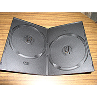 DVD Case - Black Double 9mm Spine - Slim Style from Am-Dig