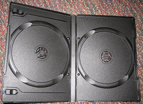 DVD Case - Double Black 14mm Spine & Booklet Clips from Am-Dig