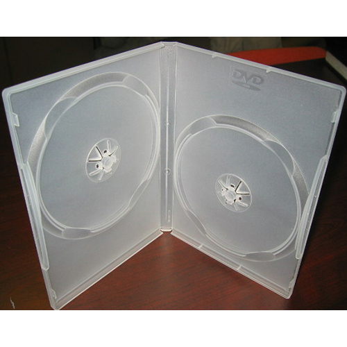 DVD Case - Clear Double 14mm Spine - with DVD Logo from Am-Dig