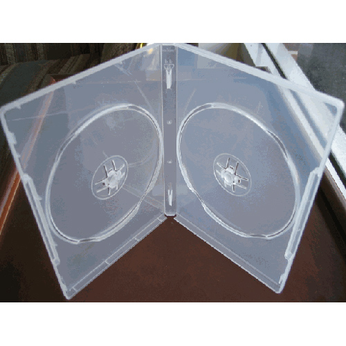 DVD Case - Super Clear Double 14mm Spine w/ Clips from Am-Dig