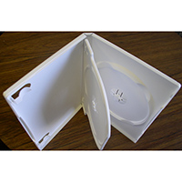 DVD Case - White Double 14mm Spine - Swing Tray from Am-Dig