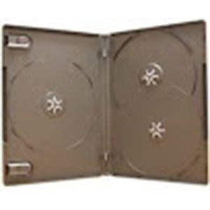 DVD Case - Black 3-Disc 14mm - Overlap Style from Am-Dig