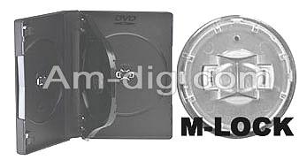 DVD Case - Black Triple 27mm M-Lock Hub Design from Am-Dig