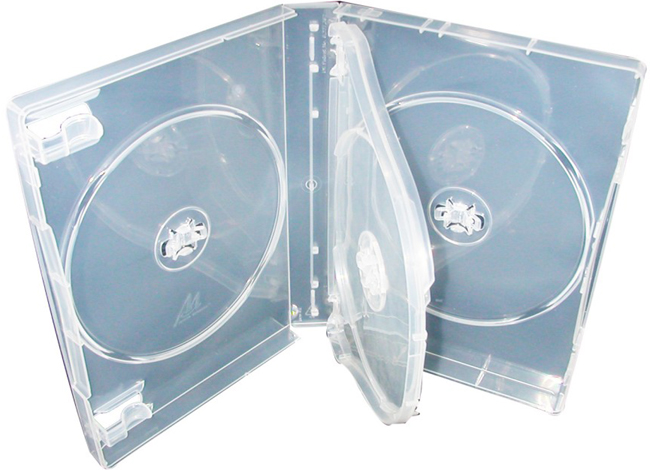 DVD Case - Clear Triple 27mm M-Lock Hub Design from Am-Dig
