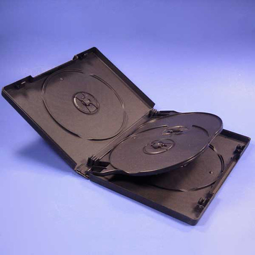 DVD Case - Black 4-Disc 22mm - No Bookclip from Am-Dig