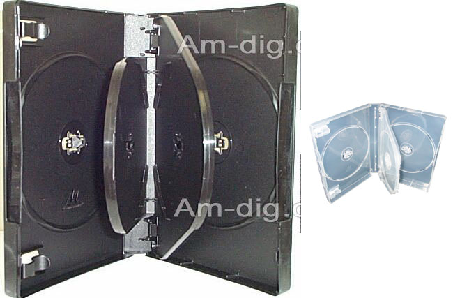 DVD Case - Clear Six Disc 27mm M-Lock Hub Design from Am-Dig