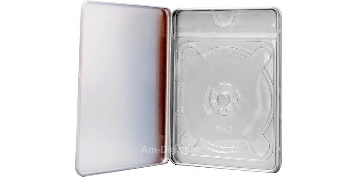 Images of the Tin DVD/CD Case Rectangular No Window Clear Tray