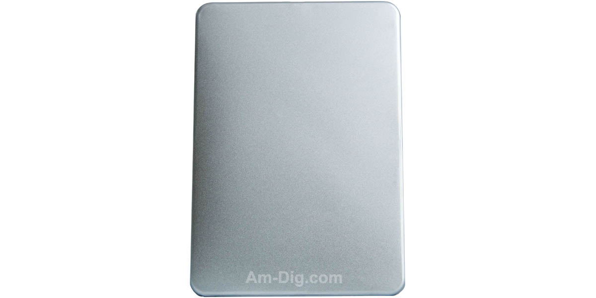 Tin DVD/CD Case Rectangular No Window Clear Tray - Front View