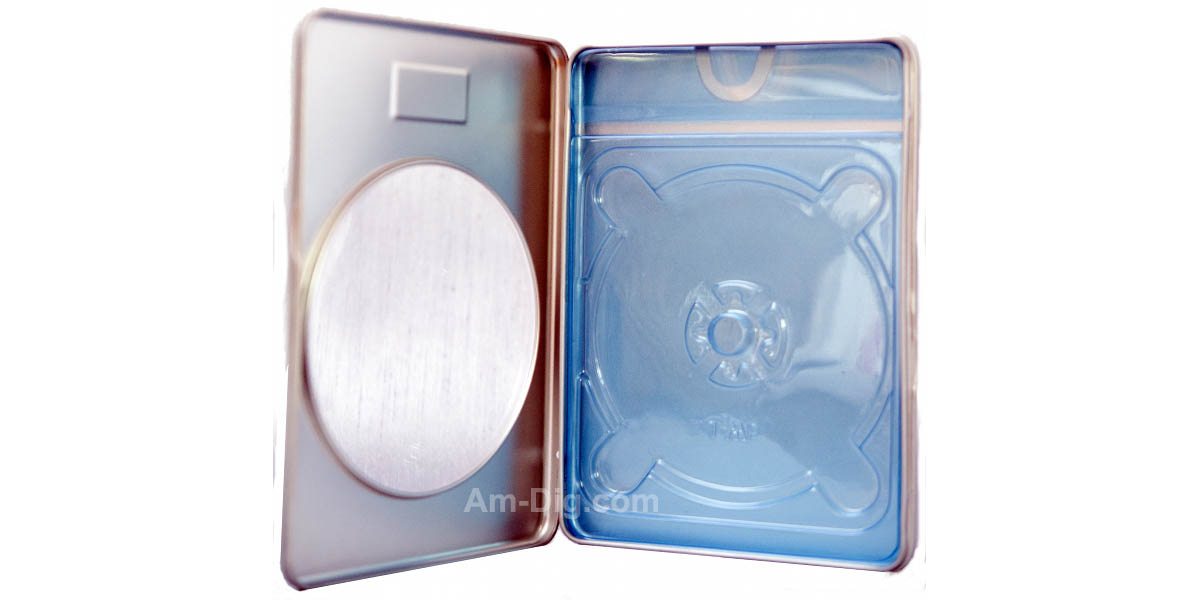 Images of the Tin DVD/CD Case Rectangular with Window and Indent