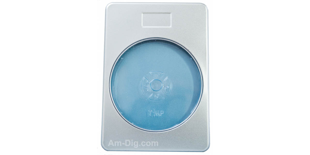 Tin DVD/CD Case Rectangular with Window and Indent - Front View