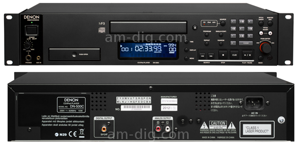 Denon DN-500C CD Player With Integrated IPod Dock from Am-Dig
