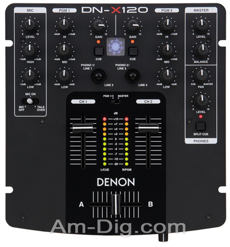 Denon DN-X120 Compact Performance Mixer from Am-Dig