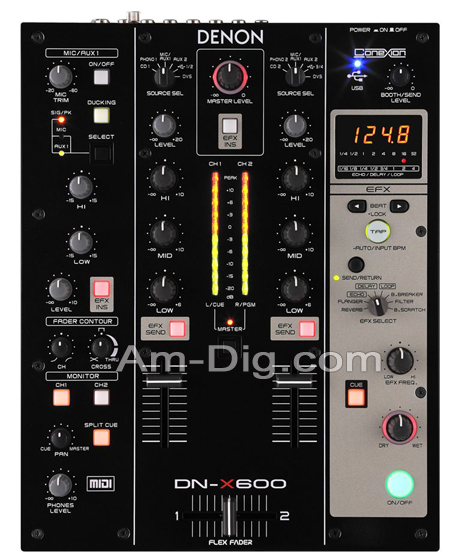 Denon DN-X600 Professional 2-Ch Digital Mixer from Am-Dig