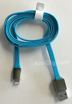 Earldom WZNB-06: Digital iPhone 5/6 Cable - Blue from Am-Dig