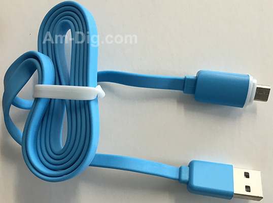 Earldom WZNB-23: LED Micro to USB Cable - Blue from Am-Dig