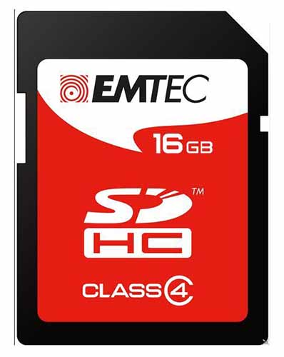 EMTEC ECMSD16GHC4: SDHC Memory Card 16GB Class-4 from Am-Dig